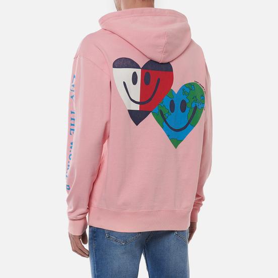 Мужская толстовка Tommy Jeans Luv The World Hearts Hoody Iced Rose