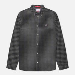 Мужская рубашка Tommy Jeans Heather Gingham Dark Olive