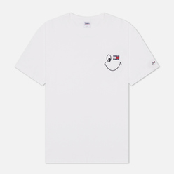 Мужская футболка Tommy Jeans Smiley Badge Graphic White