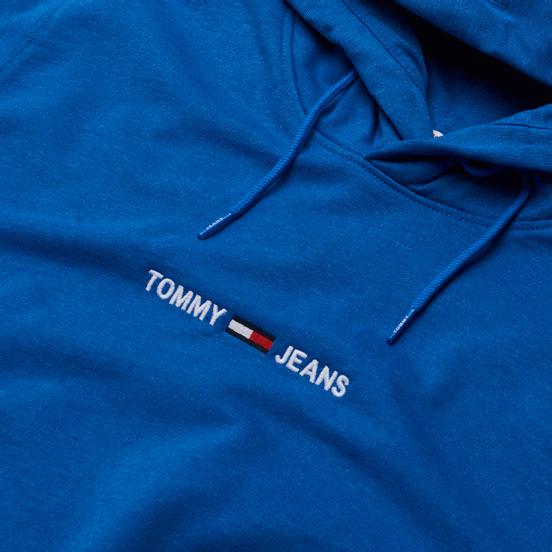 Мужская толстовка Tommy Jeans Straight Logo Heathered Hoodie Liberty Blue Heather