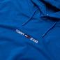 Мужская толстовка Tommy Jeans Straight Logo Heathered Hoodie Liberty Blue Heather фото - 1