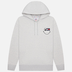 Мужская толстовка Tommy Jeans Badge Smiley Relaxed Fit Hoodie Silver Grey Heather
