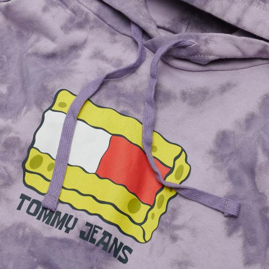 Мужская толстовка Tommy Jeans x Sponge Bob Square Pants Hoodie Tie Dye/Purple Quartz