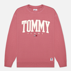 Мужская толстовка Tommy Jeans ABO Collegiate Crew Neck Moss Rose