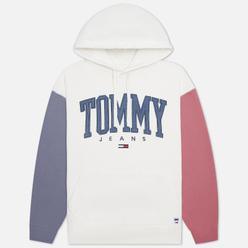 Мужская толстовка Tommy Jeans ABO Collegiate Colorblock Hoodie Ivory Silk