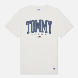 Мужская футболка Tommy Jeans ABO Collegiate Crew Neck Ivory Silk