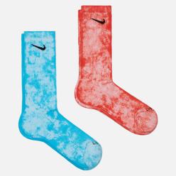 Комплект носков Nike 2-Pack Everyday Plus Cush Tie-Dye Crew Multi-Color/Blue/Orange