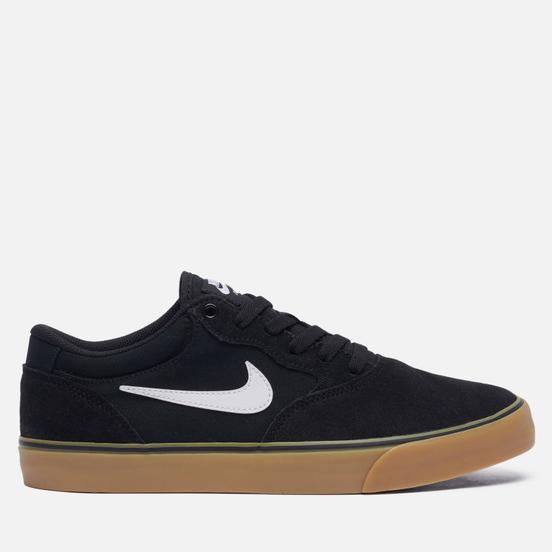 Мужские кроссовки Nike SB Chron 2 Black/White/Black/Gum Light Brown