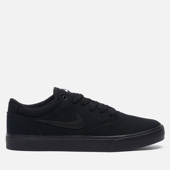 Мужские кроссовки Nike SB Chron 2 CNVS Black/Black/Black