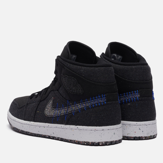 Мужские кроссовки Jordan Air Jordan 1 Mid SE Crater Black/Multi-Color/Racer Blue/White
