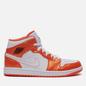 Мужские кроссовки Jordan Air Jordan 1 Mid SE Electro Orange/Black/White фото - 3