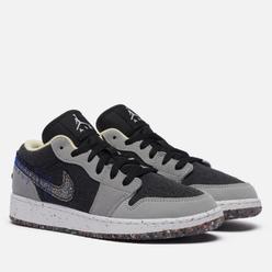 Подростковые кроссовки Jordan Air Jordan 1 Low SE GS Crater Light Smoke Grey/Multi-Color/Black