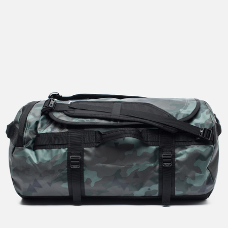The North Face Base Camp Duffel 71L Travel Bag Camo Print/Black