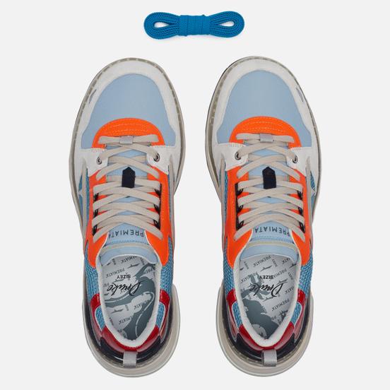 Мужские кроссовки Premiata Drake 085 White/Orange