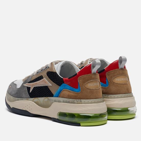 Мужские кроссовки Premiata Drake 086 Grey/Brown