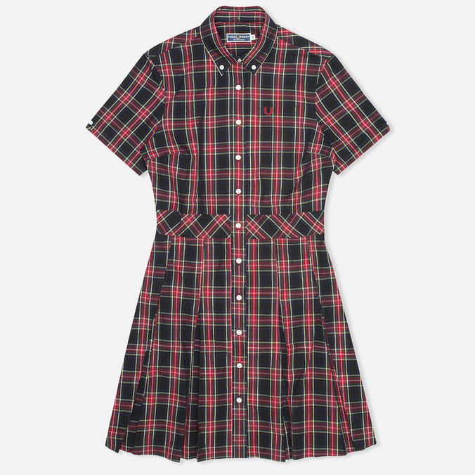 Женское платье Fred Perry Laurel Button Down Tartan Black