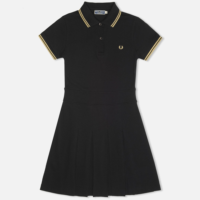 Женское платье Fred Perry Laurel Pleated Pique Tennis Black/Champagne
