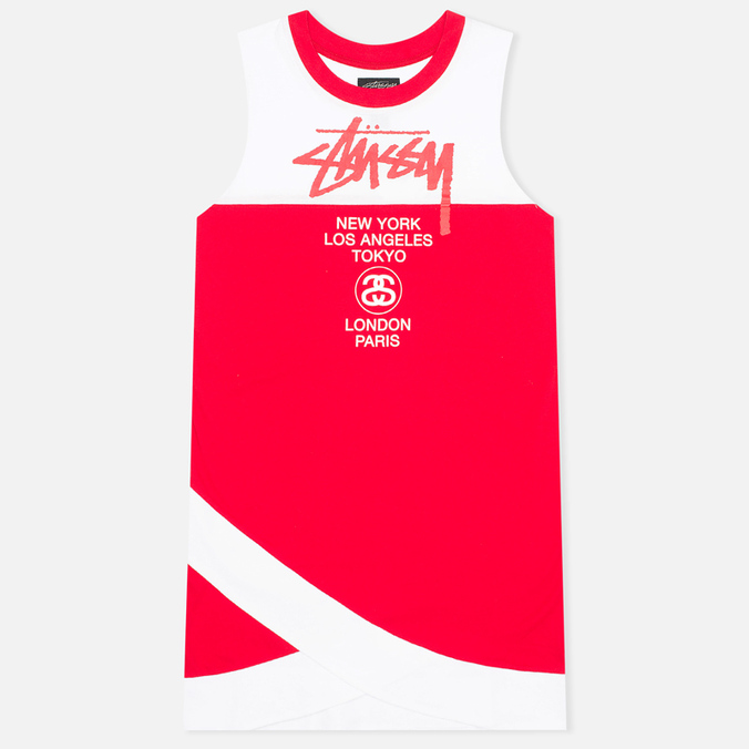 Stussy Half Tour Dress Red