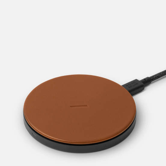 Беспроводное зарядное устройство Native Union Drop Wireless Charger Classic Leather Brown