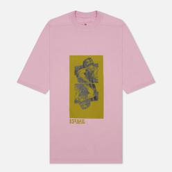 Мужская футболка Rick Owens DRKSHDW Gethsemane Jumbo Tomb Dirty Pink/Acid