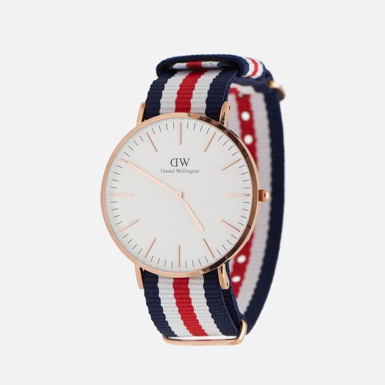 Наручные часы Daniel Wellington Classic Canterbury Blue/White/Red/Rose Gold/Eggshell White
