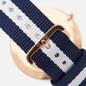 Наручные часы Daniel Wellington Classic Glasgow Blue/White/Rose Gold/Eggshell White фото - 3