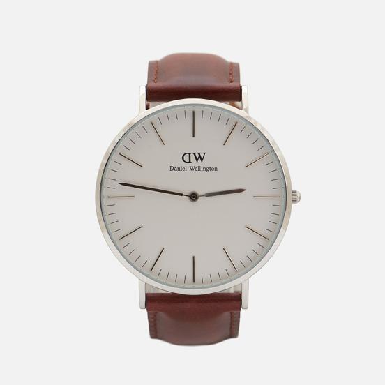 Наручные часы Daniel Wellington Classic St Mawes Brown/Silver/Eggshell White