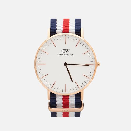 Наручные часы Daniel Wellington Classic Canterbury Blue/Red/White/Rose Gold/Eggshell White