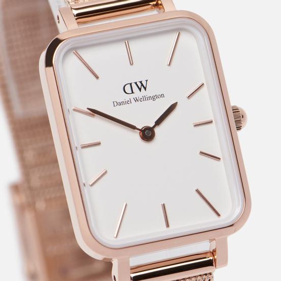 Наручные часы Daniel Wellington Quadro Pressed Melrose Rose Gold/Rose Gold/White