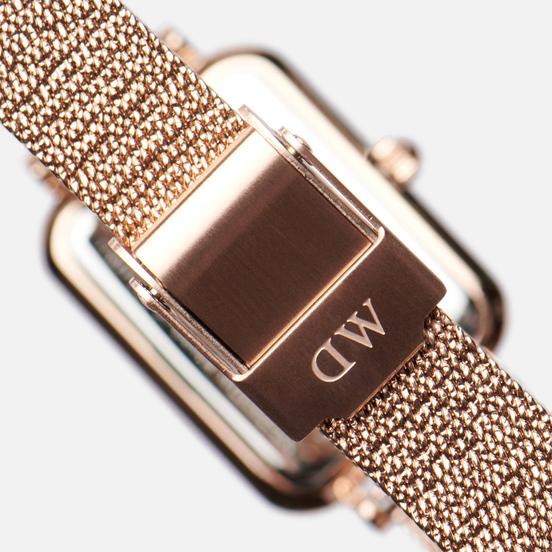 Наручные часы Daniel Wellington Quadro Pressed Melrose Rose Gold/Rose Gold/Black