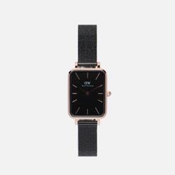 Наручные часы Daniel Wellington Quadro Pressed Ashfield Black/Rose Gold/Black