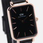 Наручные часы Daniel Wellington Quadro Pressed Ashfield Black/Rose Gold/Black фото - 2
