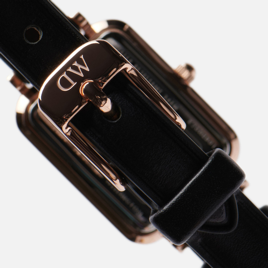 Наручные часы Daniel Wellington Quadro Pressed Sheffield Black/Rose Gold/White