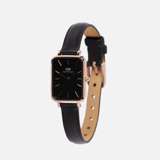 Наручные часы Daniel Wellington Quadro Pressed Sheffield Black/Rose Gold/Black