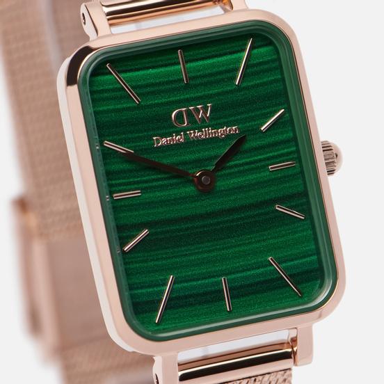 Наручные часы Daniel Wellington Quadro Pressed Melrose Rose Gold/Rose Gold/Green