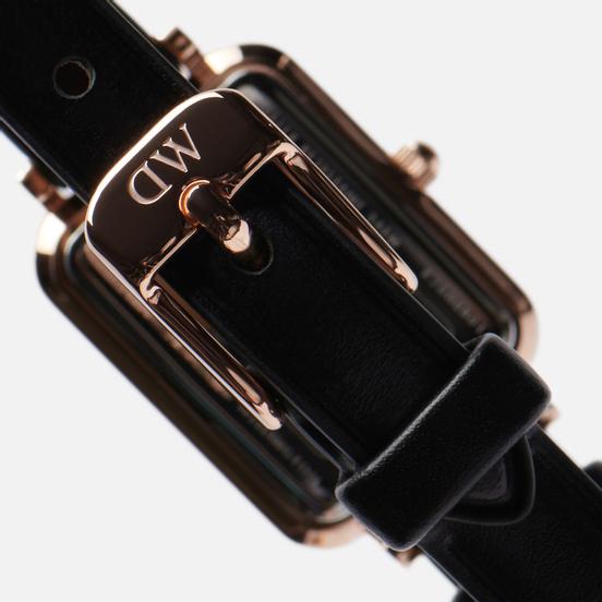 Наручные часы Daniel Wellington Quadro Pressed Sheffield Black/Rose Gold/Green