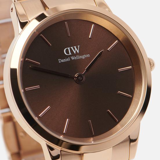 Наручные часы Daniel Wellington Iconic Amber Large Rose Gold/Rose Gold/Brown