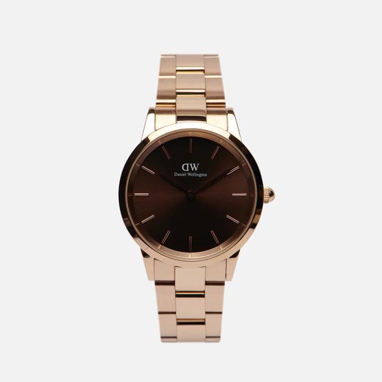 Наручные часы Daniel Wellington Iconic Amber Medium Rose Gold/Rose Gold/Brown