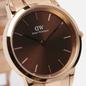 Наручные часы Daniel Wellington Iconic Amber Medium Rose Gold/Rose Gold/Brown фото - 2