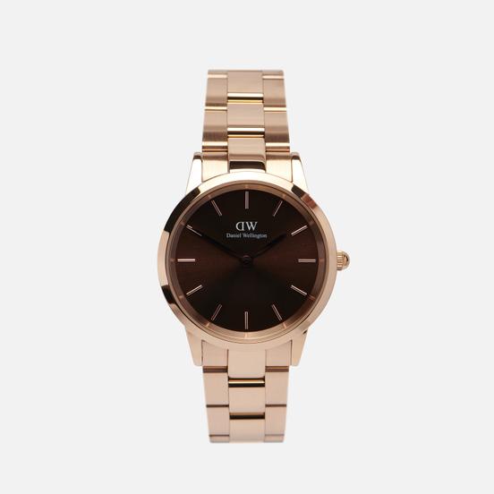 Наручные часы Daniel Wellington Iconic Amber Small Rose Gold/Rose Gold/Brown