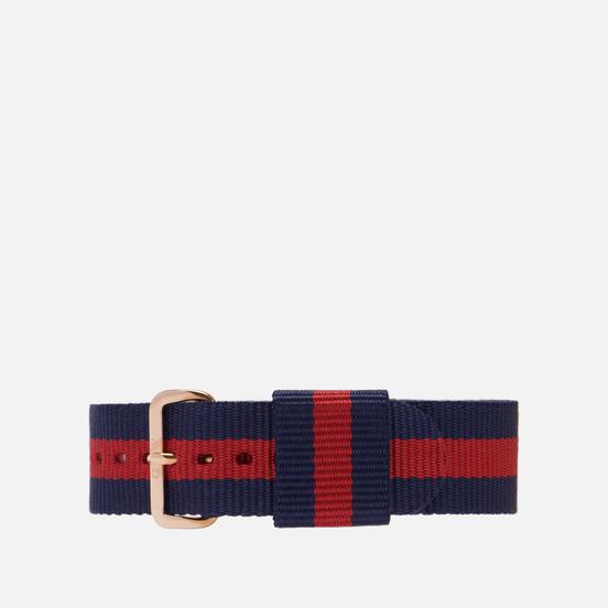 Ремешок для часов Daniel Wellington Classic Oxford Rose Gold/Blue/Red