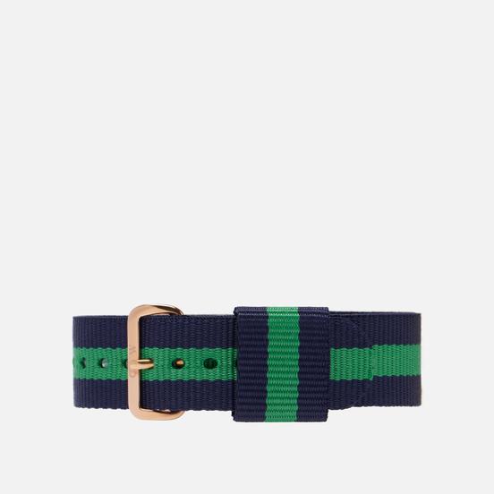 Ремешок для часов Daniel Wellington Classic Warwick Rose Gold/Blue/Green
