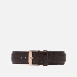 Ремешок для часов Daniel Wellington Classic York Rose Gold/Brown