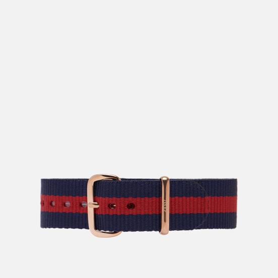Ремешок для часов Daniel Wellington Classic Oxford Rose Gold/Navy/Red