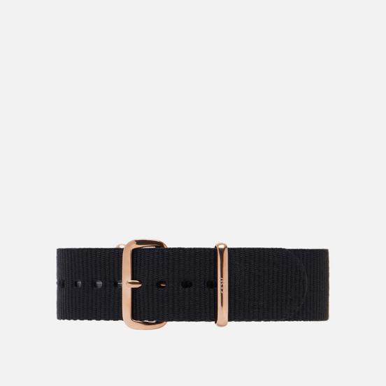 Ремешок для часов Daniel Wellington Classic Cornwall Black/Rose Gold
