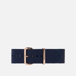 Ремешок для часов Daniel Wellington Classic Bayswater Rose Gold/Blue