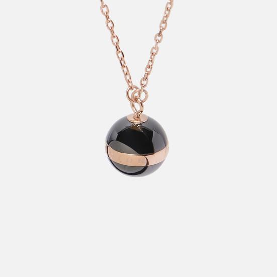 Колье Daniel Wellington Aspiration Necklace Black/Rose Gold