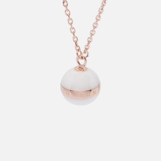 Колье Daniel Wellington Aspiration Necklace Satin White/Rose Gold