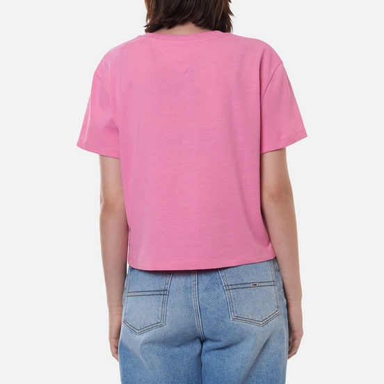 Женская футболка Tommy Jeans Tommy Badge Cropped Fit Pink Daisy