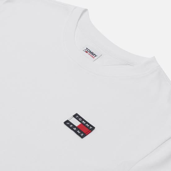 Женская футболка Tommy Jeans Tommy Badge Cropped Fit White
